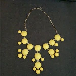 Yellow and Gold Bubble Necklace